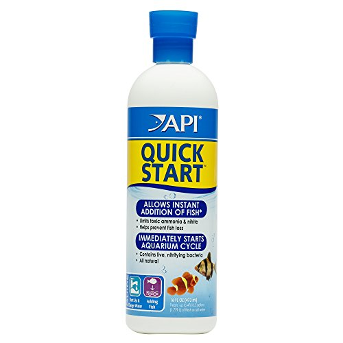API QUICK START Nitrifying Aquarium Bacteria, Allows Instant Addition of Fish and Maintains Active Biological Filter, 16-Ounce Bottle